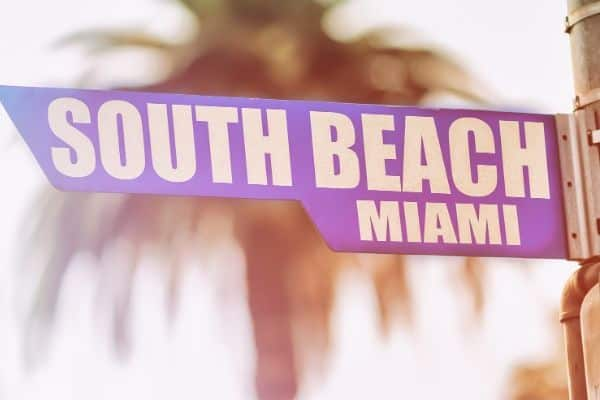 south beach street sign
