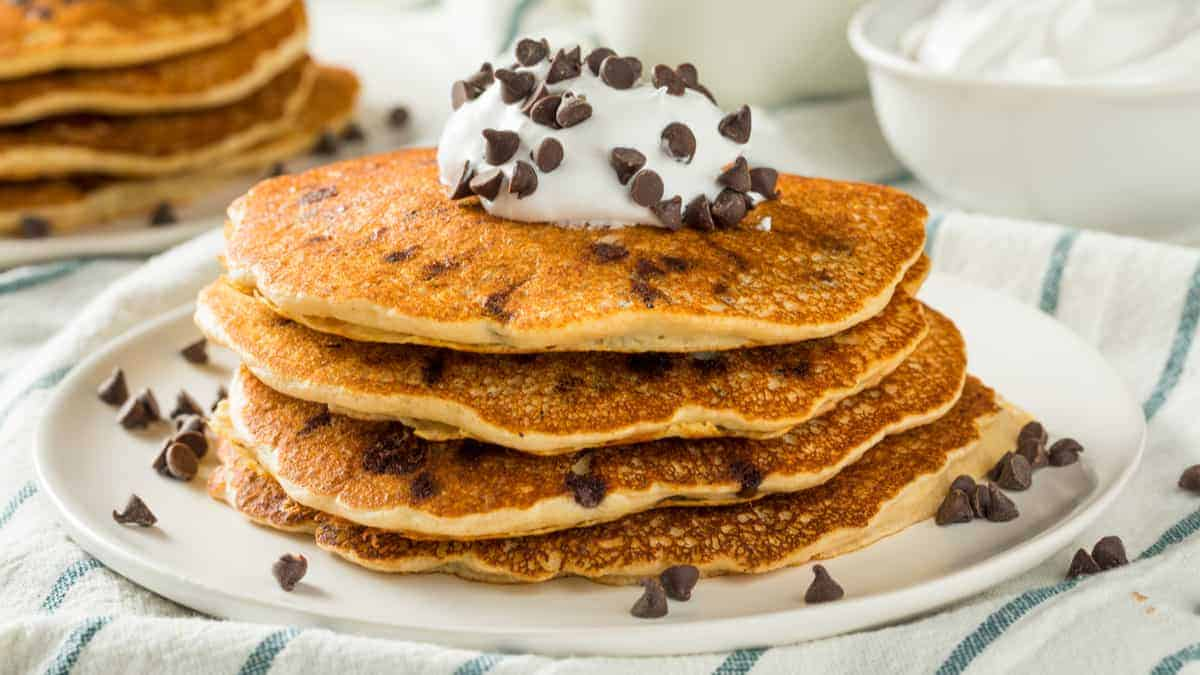 Chocolate Chip Pancakes are the Perfect Dessert on a date! (Here's why)