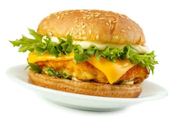 fish sandwich with cheddar