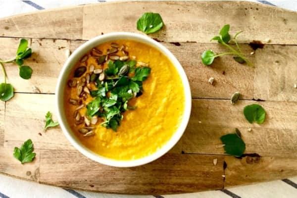 Thai Coconut, Broccoli, and Coriander soup