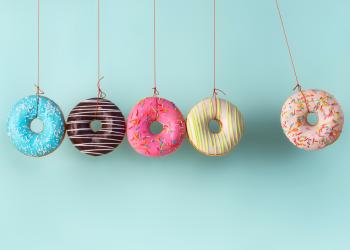 Krispy Kreme Mini Flower - Food & Dating