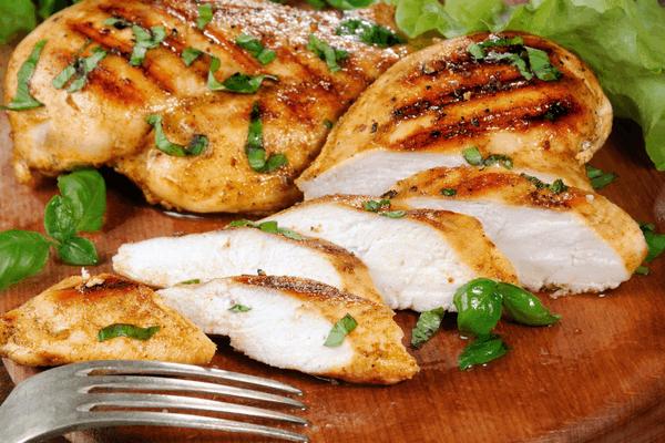 Chicken slices