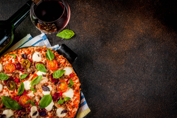 wine with pizza